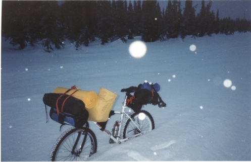 My bike on the Iditarod Trail